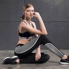 Nueva sexy mujer pantalones de yoga ropa de entrenamiento de gimnasio las mujeres leggings medias elásticas de fitness mallas para correr deportes de secado rápido de ropa deportiva