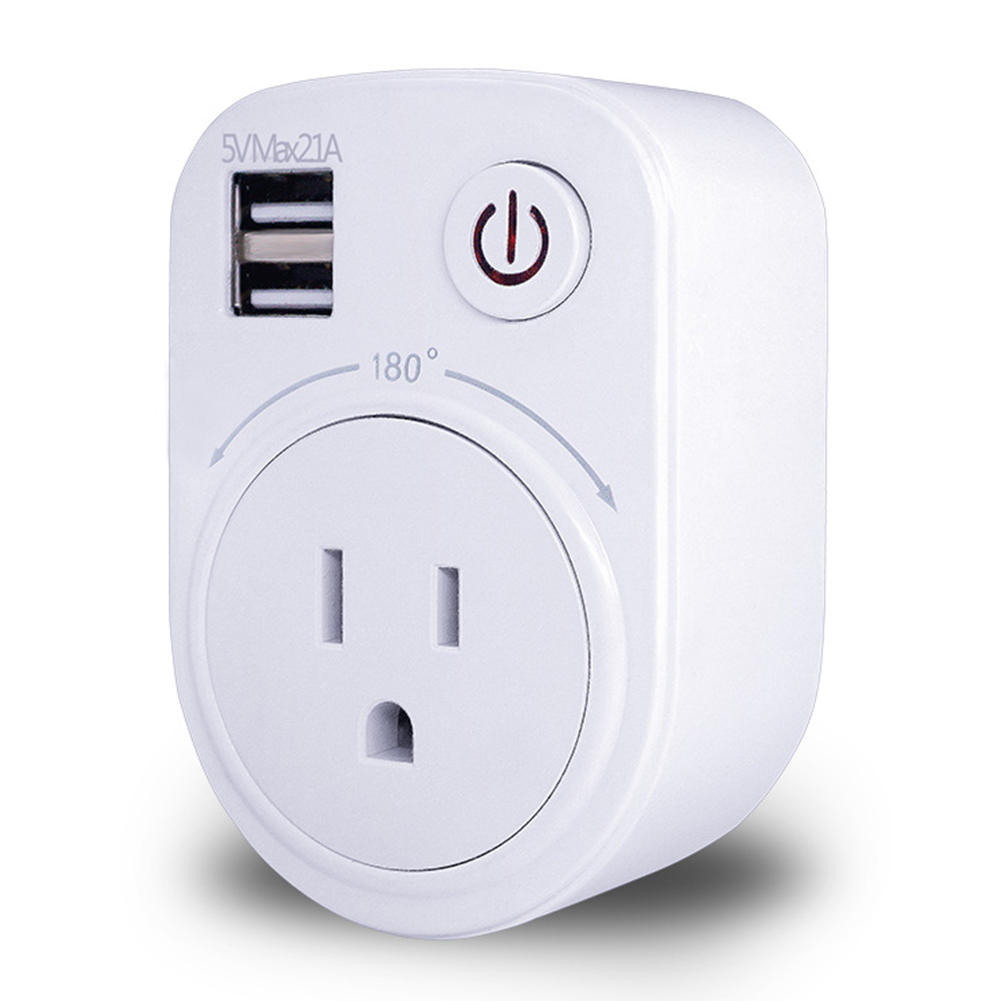Dual USB Port 2.1A Wall Charger Power Adapter Travel Socket Switch With AC Outlet EU/US/UK Plug Socket Surge Protect Panel