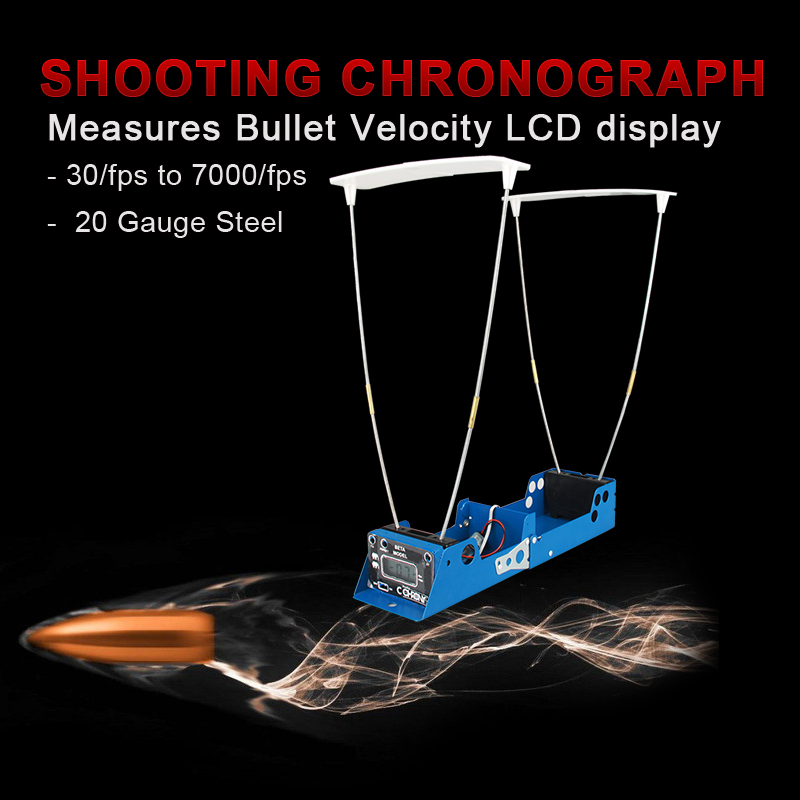 Airsoft Chronograph LCD Display Measures Bullet Velocity Shooting Chronograph Speed Tester Record Function for Hunting PP35 0005