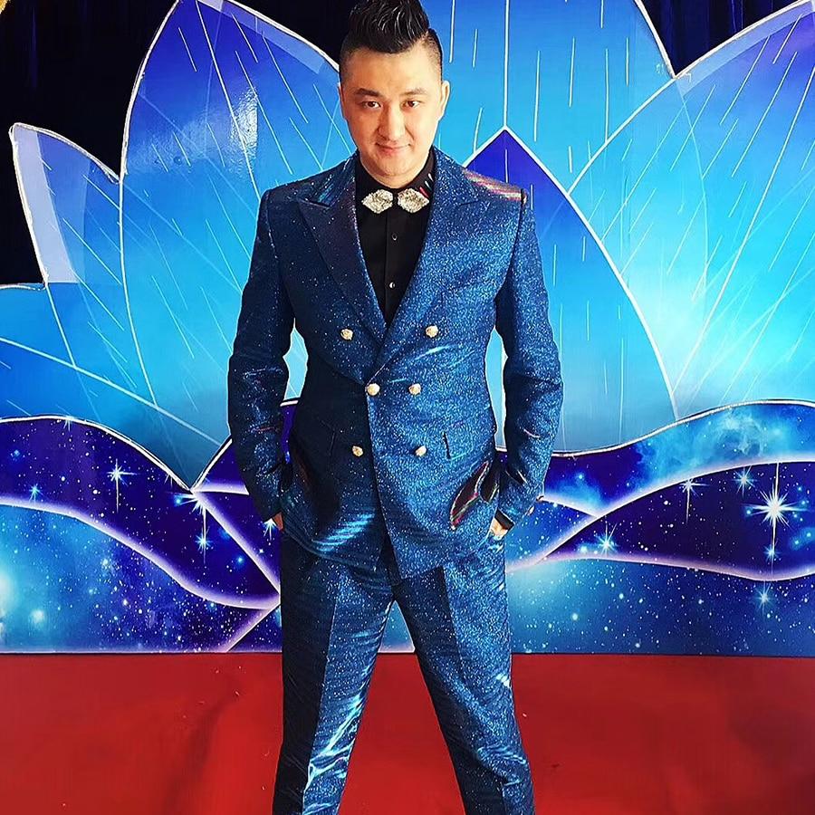 Men Singers Suits Male Singer Stage Costume Slim DJ DS ...