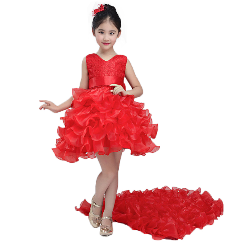 Christmas clothing Princess Flower tutu dress Children girl dress For Wedding teenager Party Prom Dresses girl teenager party dress flower princess dress girl clothing for girls clothes dresses spring summer custumes