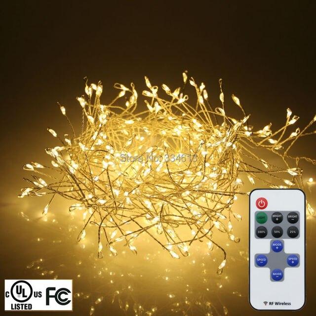 UL CE Snoer 1.25 m 4FT 400 LEDs Silver Wire LED String Lights Boom ...