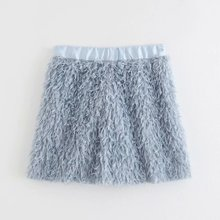 2019 Women fashion solid color feather decoration a line skirt ladies casual chi