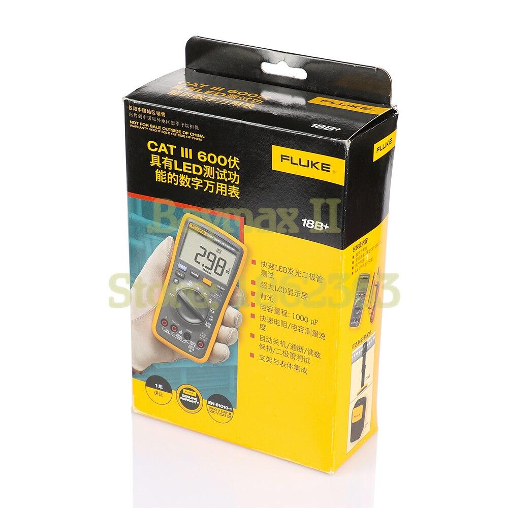 Multímetro Digital de rango Auto/Manual de Ohm con prueba LED de tensión CA/CC, corriente, capacitancia - 6