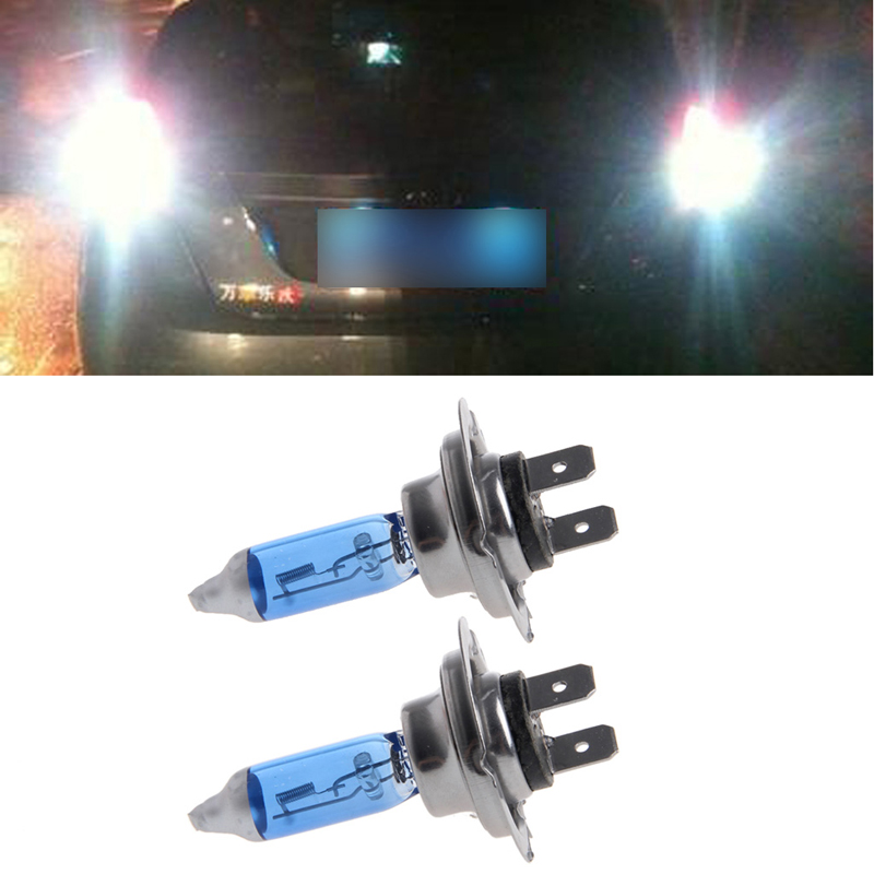 1 Pair Car Headlight H7 Lamp Super White Car Halogen Bulb 100W Fog Light DC 12V free shipping 2016 high quality kobo h7 halogen bulb super white car headlight bulb 12 v 55w 5500k price for pair auto access