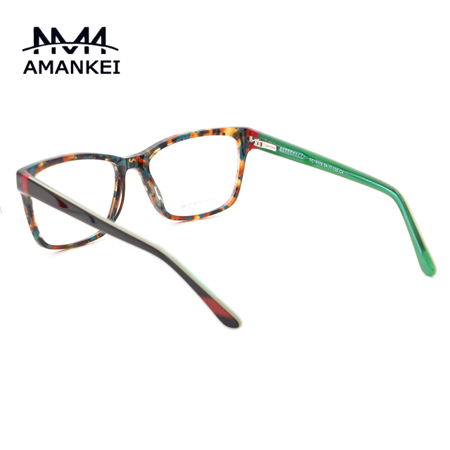 Ámbar Óptica gafas Marcos De Anteojos De Diseñador Marcas Mujer Vintage Claro Gafas Hombres Logotipo Personalizado con la caja DC16119