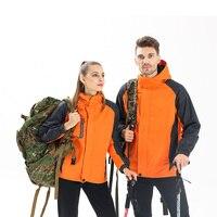 Adhemar Спорт На Открытом Воздухе Пеший Туризм куртка для мужчин зимние термальность с капюшоном флисовая ветровка куртки кемпинг лыжный