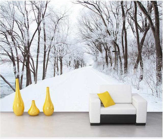 3d Wallpaper Hd Mural Naked Eye 3d Snow 3d Trees For Tv Sofa