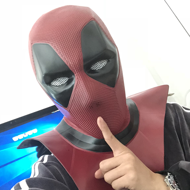 Us 31 26 5 Off Aliexpress Com Buy 2018 New Moive Deadpool 2 Mask Breathable Pvc Full Face Mask Halloween Cosplay Props Wholesale Hood Helmet On