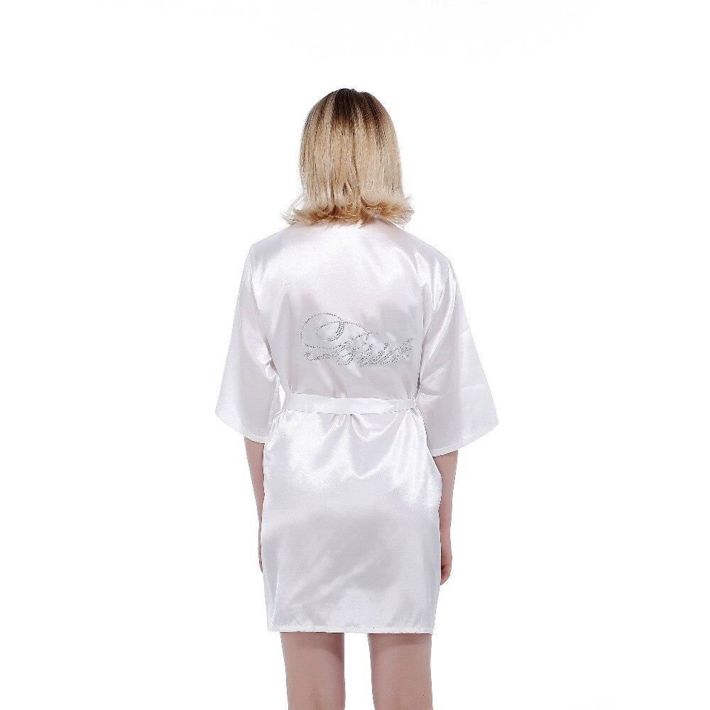 Robe Wedding Bride Women Sleepwear Nightwear White Bridal