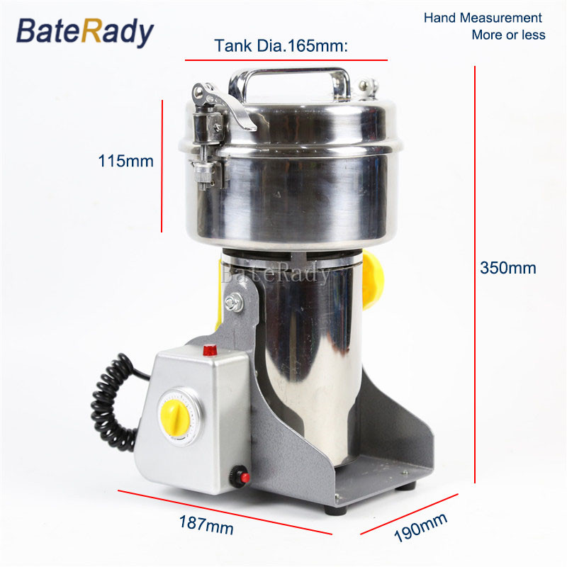 DLY 500 BateRady herbal pulverizer continuous feed Mills,ultrafine powder Grinder,Grains grinding machine,Herb Mincers
