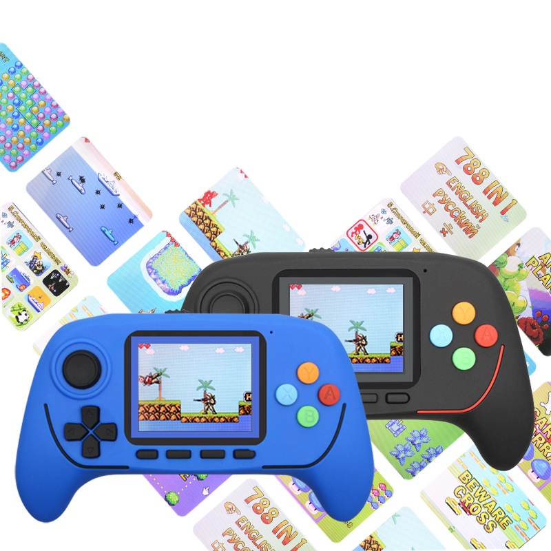 Retro Classic Handheld Game Player 16-Bit PVP Portable Console 2.5 Inch HD Screen Built-in 788 Games For Children