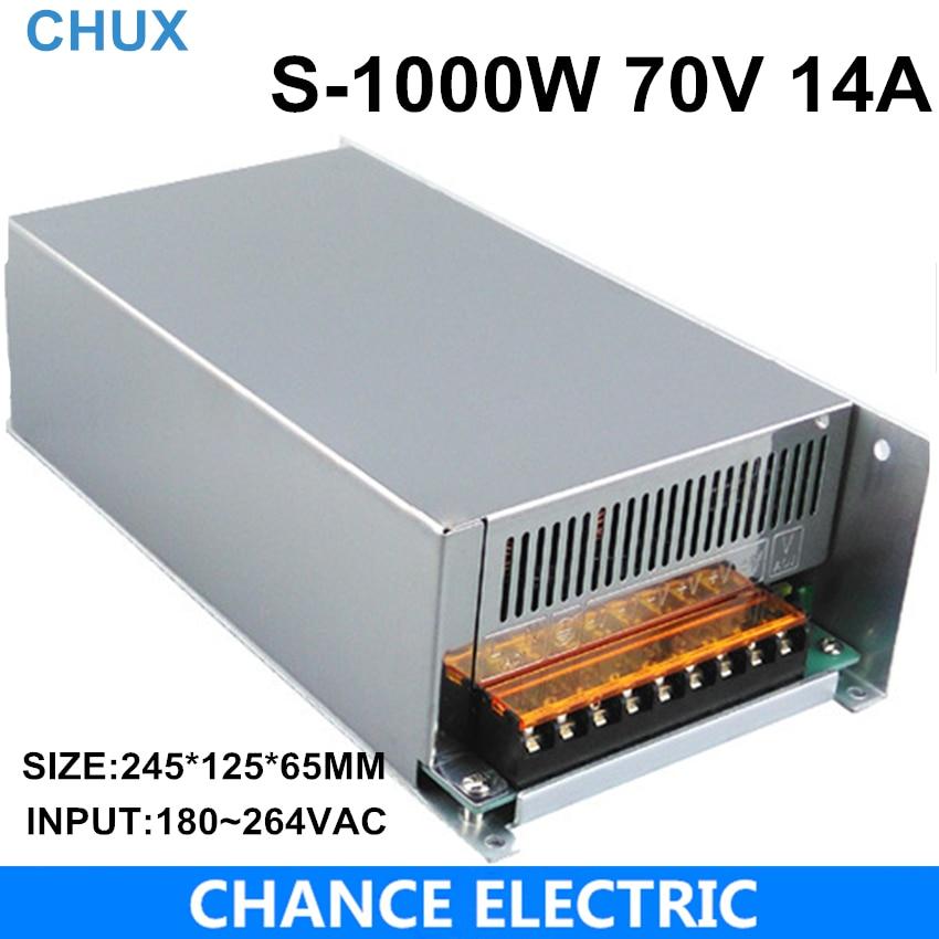 1000 w 70 v réglable 14A Unique Sortie alimentation à découpage AC à DC 110 v ou 220 v