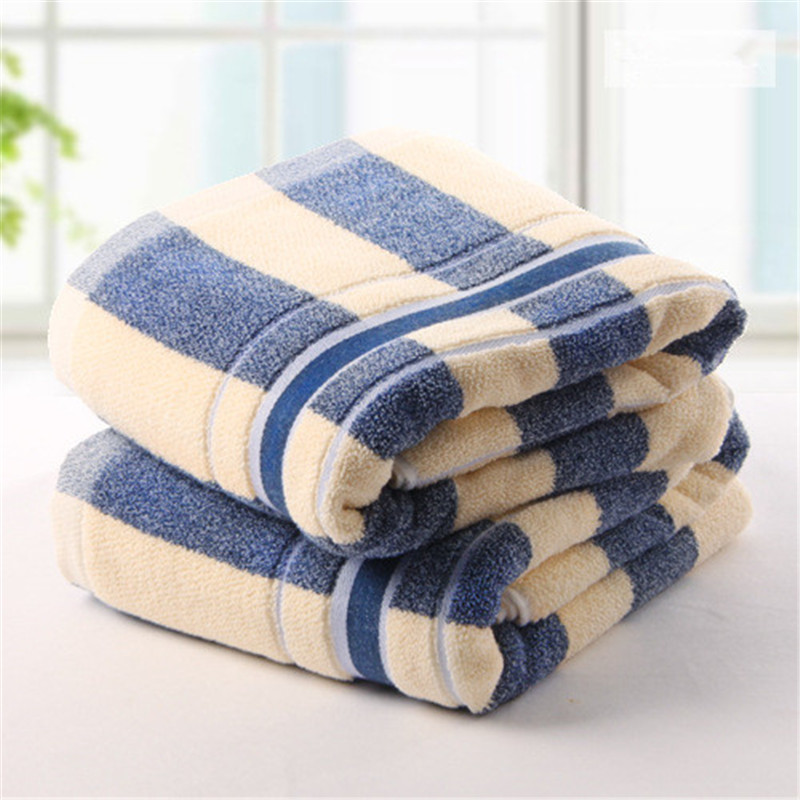 FullLove 34*78cm 1PC Face Towel 100% Cotton Striped Blue Absorbent Towel for Hair Kids Hand Towels Travel Face Towels for Adults