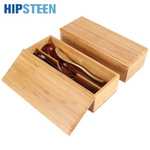 HIPSTEEN Home Restaurant Bamboo Eco-friendly Japanese-style Tableware Chopsticks Spoon Cage Storage Box