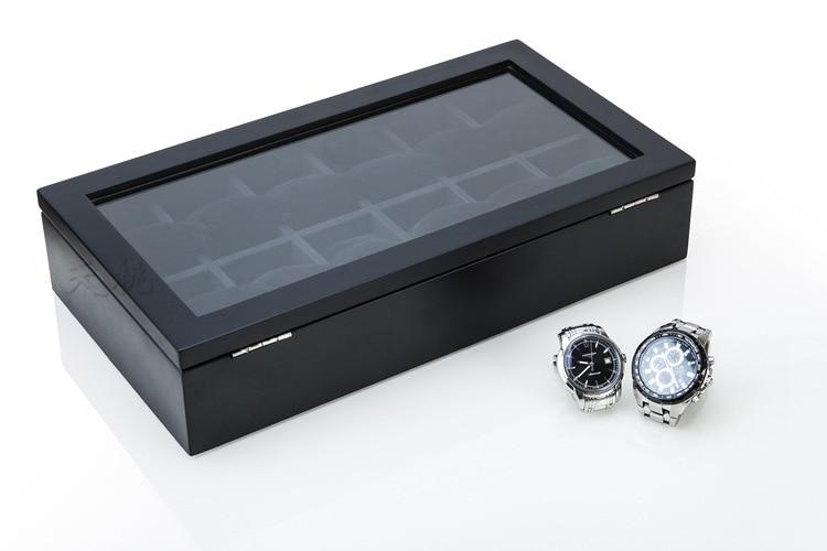 12 Slots De Madeira Caixa De Relógio