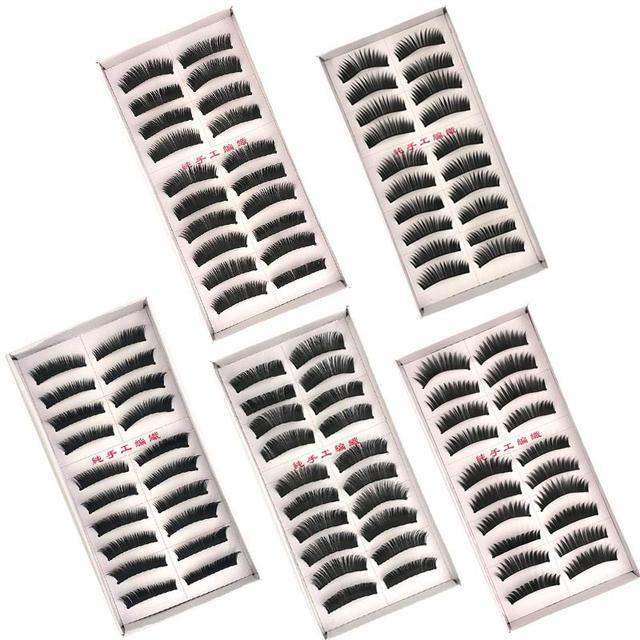 New 5 styles 10 pairs false eyelashes makeup beauty eyelash extension natural fake eyelashes for maquiagem makeup thick cilios