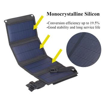 Portable 20W Solar Panel Folding Solar Cell Foldable Waterproof USB Port Charger Mobile Power Bank for Phone Battery Outdoor 2