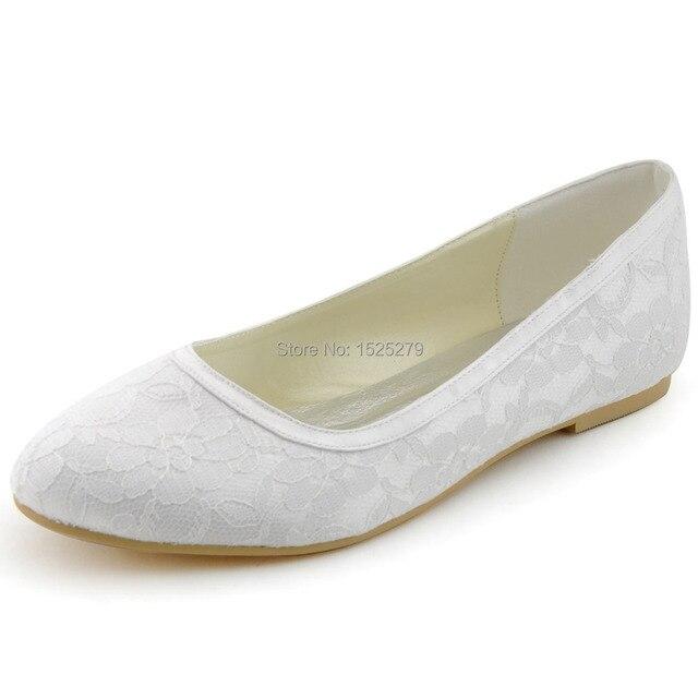 Frauen Schuhe Ep11104 Vintage Weiss Elfenbein Braut Prom Partei