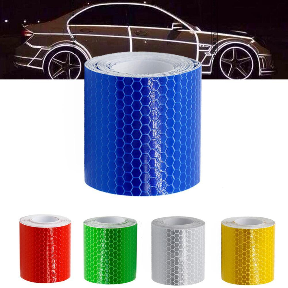 5 cm x 3 m Car Styling Self Adhesive Warning Tape Safety Mark Reflective Tape Stickers