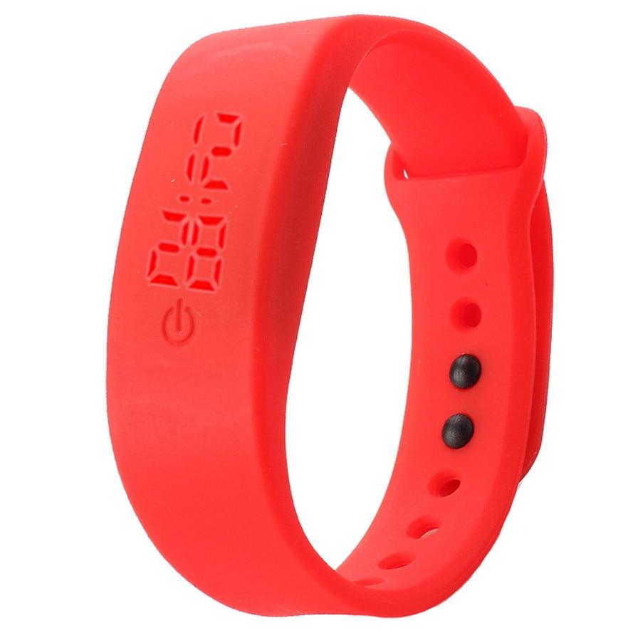 New Arrive Ultra Thin Girl Relogios masculino Sports Silicone Digital LED Sports Wrist Watch women men #40 gift 1pcs