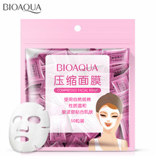 Bioaqua 50/100 Pieces Natural Nonwoven Fabric Compression Face Mask Of Pro Thin Skin Care DIY Disposable