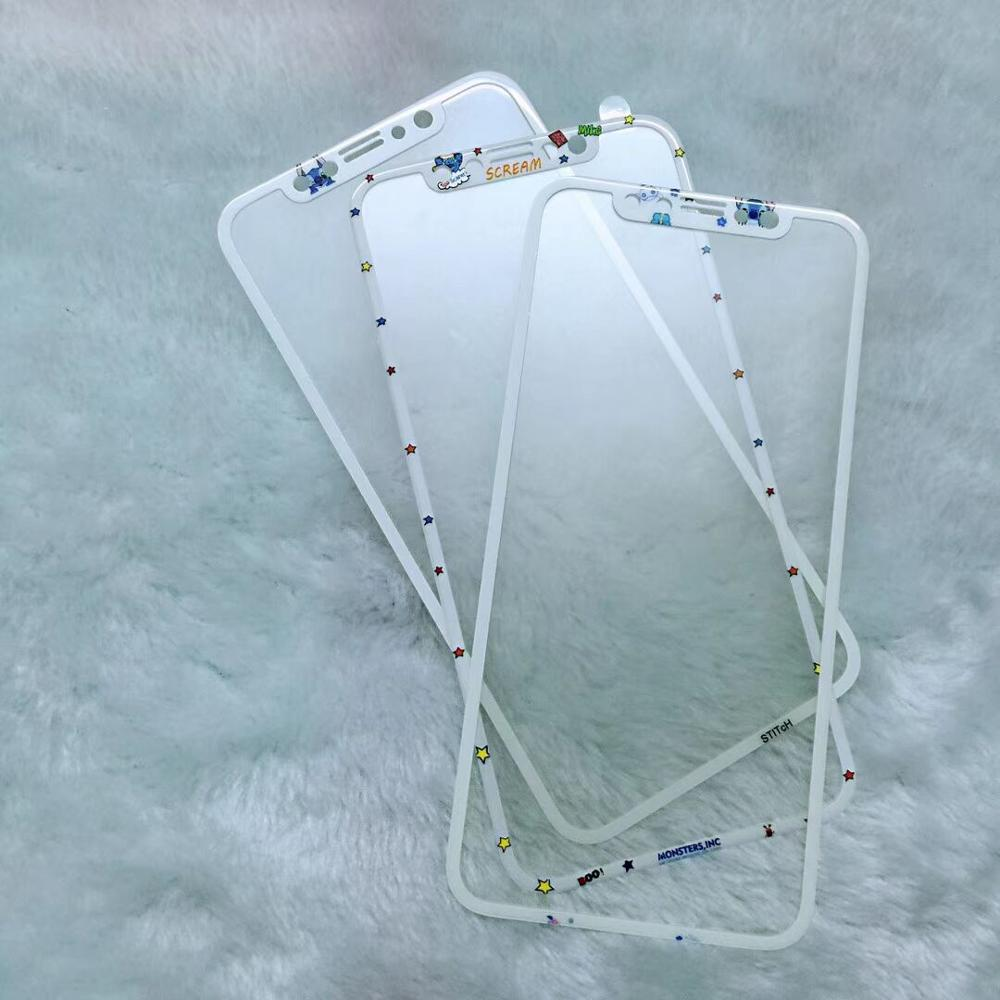 Cartoon Cute 3D Fiber Couple Phone Film Protective For IPhone XS MAX XR X 8 7 Tempered Glass Film Screen Protector