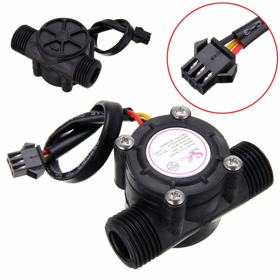 "1-30L / min جریان سنج سنسور جریان آب 1/2 ""کنترل کننده سنسور جریان 2.0MPa برای دستگاه اندازه گیری جریان"