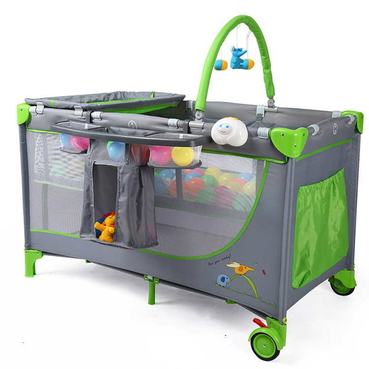 buy free shipping portable baby suite baby crib deluxe playard folding crib trolley game bed with netting from reliable game bed suppliers