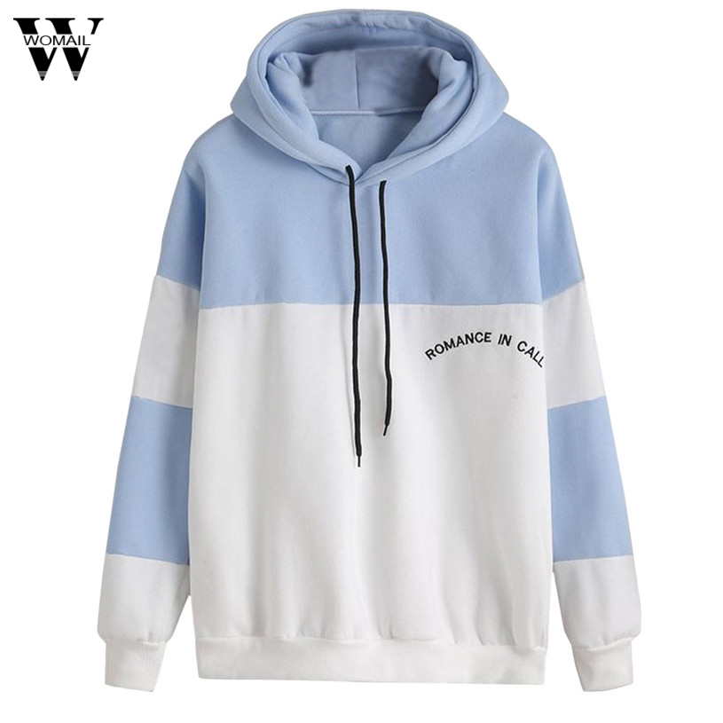 Womail Women Hooded Long Sleeve Casual Hoodie Tops Women Hoodie Sweatshirts Womens Polyester Cowl Neck Casual Slim Tunic Tops#30