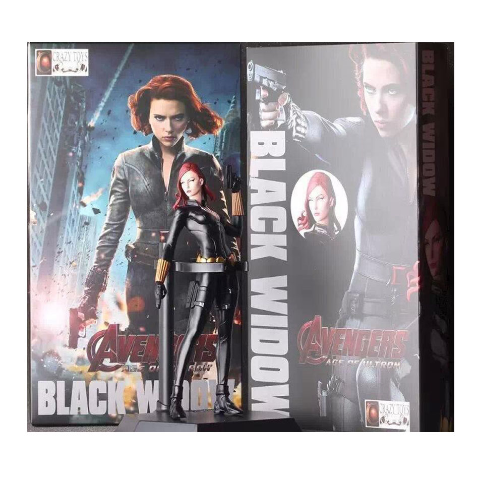 Black widow 7in 1pcs pvc figures marvel superhero the avenger action anime...