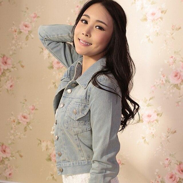 Fashion Brand Coat  2016 Spring Autumn Women's Denim Outerwear Female Slim Short Jackets For Women
