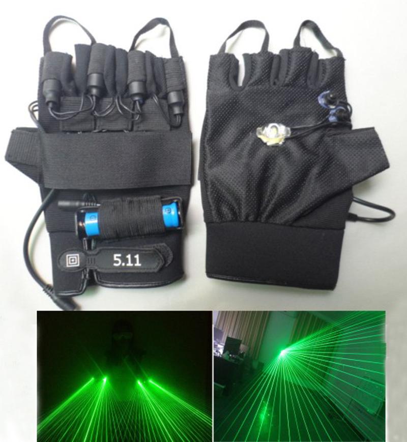100 beam left hand beam laser gloves