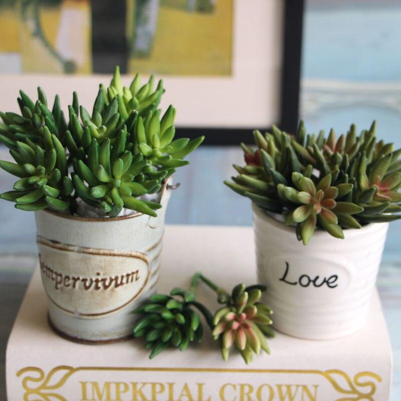 2pcs/set Artificial Succulents Mini Octopus Claw Plants Grass Desert Artificial Plant Landscape Fake Flower Home Decor A