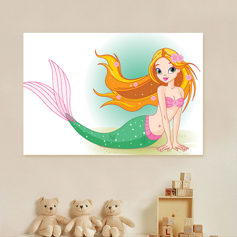 coloring by numbers Mermaid modular painting sea-maid digital paint by numbers diy digital painting home decor for girls
