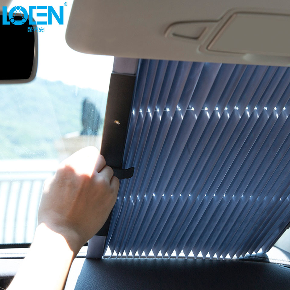 46CM/65CM/70CM/80CM Upgarde Retractable SUV Truck Car Front Windshield Sunshade Rear Window Sun Visor UV Protection Curtain46CM/65CM/70CM/80CM Upgarde Retractable SUV Truck Car Front Windshield Sunshade Rear Window Sun Visor UV Protection Curtain