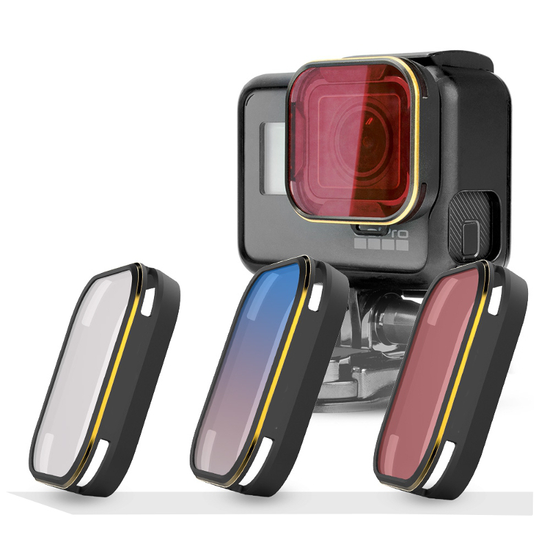 4 PCS Lens Graduated GND Filter for Gopro Hero 5 Gold Edge Red Orange Blue Grey For Mini Sports Camera RC Spare Parts