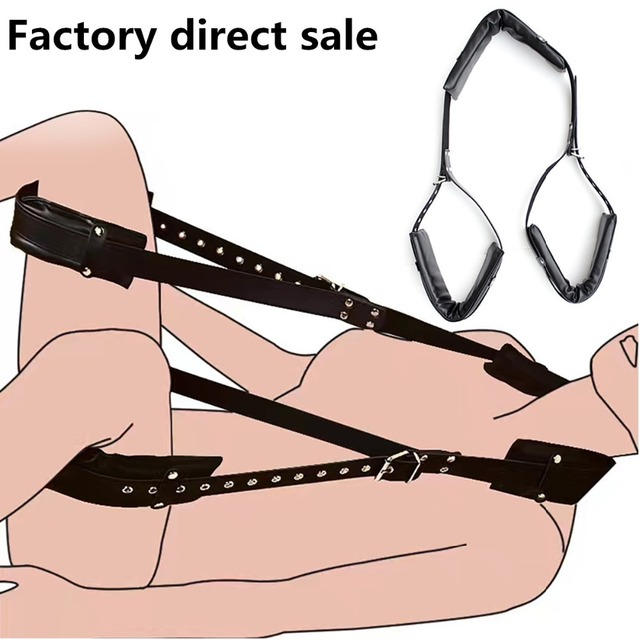 Sm product BDSM Leather Bondage Harness Sexy Game Eroti Adult Sex Swing  Sets Fetish Bondage Restraints Bed Sex Toys For Women