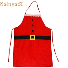 Saingace Top Grand Christmas Decoration Kitchen Aprons Christmas Dinner Party Apron Santa Dinner Table Party Decoration