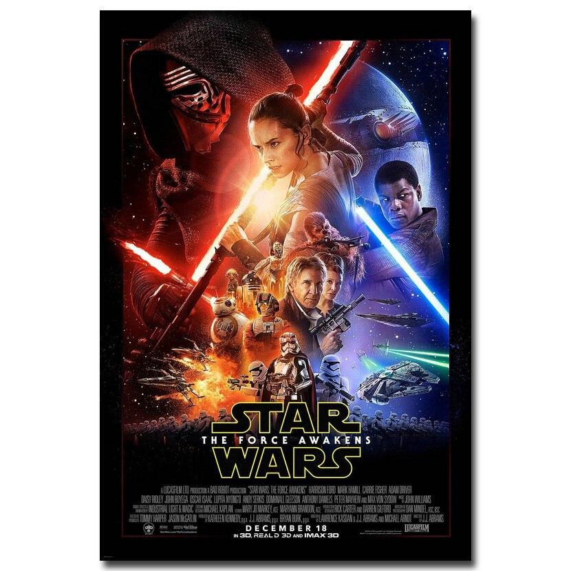 Star Wars 7 Force Awakens Movie Silk Poster 12x18 24x36inch Darth Vader Head