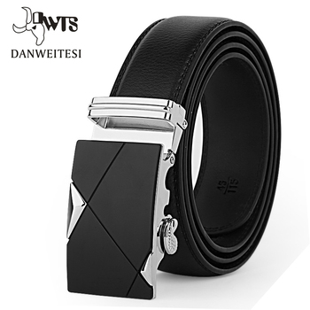 Genuine Leather Strap Top Quality Automatic Buckle black Belts