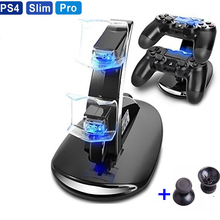 DC5V Portable Dual 2 x 400mAh USB LED Handle Fast Charging Dock Station Rapid Flash Stand Charger for PS4 Controller PS4 Slim недорого