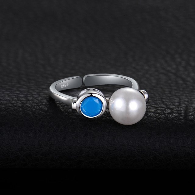 Art Deco Turquoise Pearl Ring