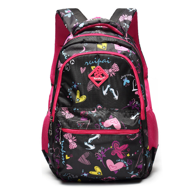ALI VICTORY Large flower print backpack for girls teenage