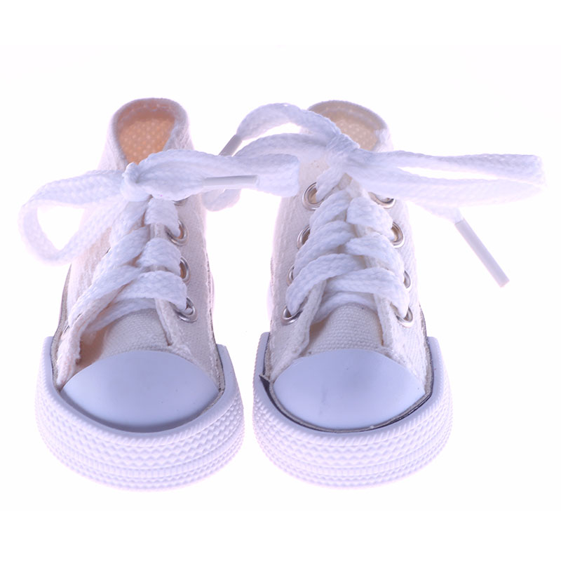 New arrivals 1 Pair Canvas Shoes For BJD Doll Toy Mini Doll Shoes for Sharon Doll Boots Dolls Accessories Hot Sale 7.5CM 5 cm mini toy shoes casual bjd snickers shoes for bjd dolls 1 6 bjd doll shoes toy boots fashion dolls accessories 12 pair lot