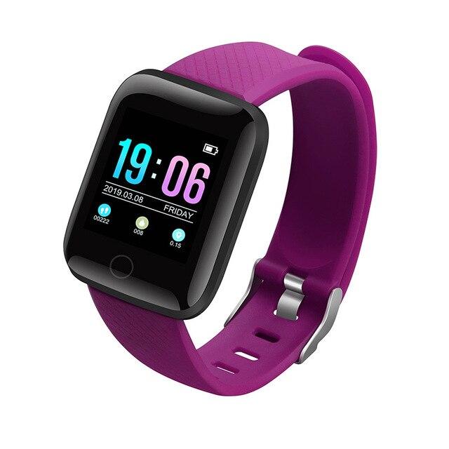 Violet tongzhou Bracelet Intelligent IP67 /étanche Bracelet Intelligent 0.96 Pouces TFT Couleur Smartwatch Moniteur de Sommeil Montre de Sport