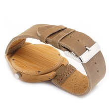 Natural Bamboo Wood Casual Quartz Watches