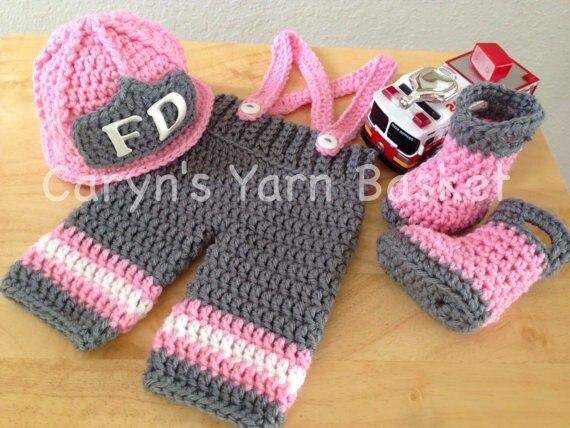 Neue baby rosa hut feuerwehrstiefel mit passenden Hosen babysätze ...