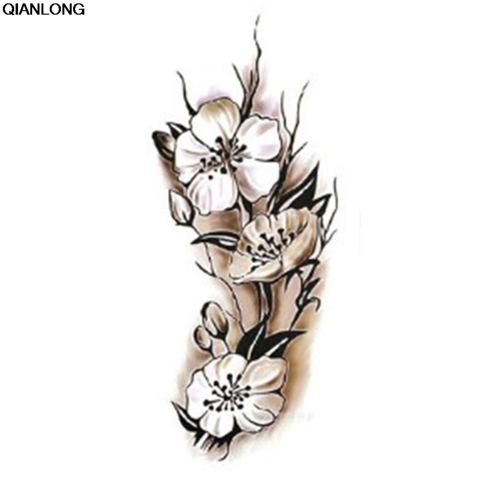 Fashion Women arm shoulder tattoo Removable Waterproof Temporary Tattoo Plum Blossom Body Tattoo Sticker tatuaje mariposas y flores
