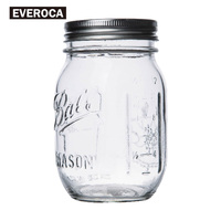 2017 Mason Jar Bottle For Icecream Fruit Installed Cold Drink Infusion Glass Water Bottles Stainless Steel